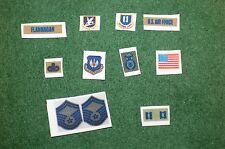 1/6 usaf force de sécurité/police discrète insigne drapeau & patch set