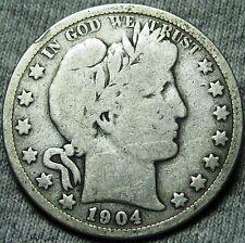 New listing 1904-S Barber Half Dollar - Low Mintage Rare - #W142