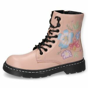 Dockers By Gerli Ladies 45TS201 Boots Desert Boots Combat Boat Floral Pattern