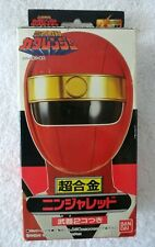 NINJA SENTAI RED KAKURANGER BANDAI 1994 CHOGOKIN die-cast in box