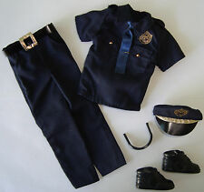 KEN Doll Clothes Police Uniform, Hat, Sunglasses And  Shoes NEW!