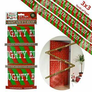 ELVES BEHAVIN' BADLY NAUGHTY ELF TAPE BANNER CHRISTMAS XMAS DECORATION