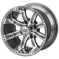 4 Golf Cart 20x10-12 Tire 12x7 Gunmetal Casino Wheel