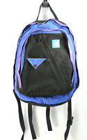 The North Face Youth Black Blue Color Block Nylon Kids Backpack zippper
