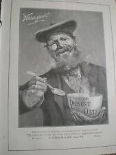 Provost porridge oats Verra Guid scotsman art advert 1901 ref AY