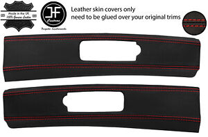 RED STITCH 2X TARGA ROOF TRIM REAL LEATHER COVERS FITS NISSAN 300ZX Z32 90-96