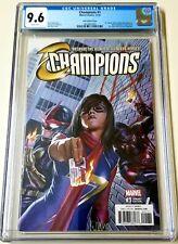 Champions 1 CGC 9.6 Alex Ross Variant Miles Morales Ms Marvel Kamala Khan Nova🔥