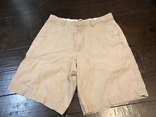 Banana Republic Flat Front Khaki Casual Chino Shorts - Size 32