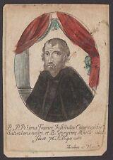 Hl. St. Pierre Fourier 17.Jh. altkoloriert Mirecourt Mattaincourt Vosges Trier