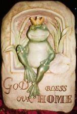 Stampo IN LATTICE Craft RANA Dio benedica la nostra casa decorazione giardino Art & Crafts Hobby