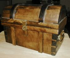 Trick Pirate Treasure Chest - All Wood - Handcrafted - Find 2 Compartments