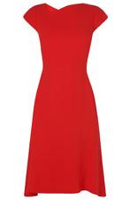 New LK Bennett IRE Dress 8 Fit n Flare Stunning Dress LK3 Aurora Red $395