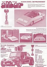 ALBAR BUGGY FUN CAR JET Prototyp GFK Prospekt Brochure Sheet 1982