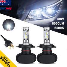 50W 8000LM H4 Hi-Lo Philips LED Headlights Kit Replace HID Bi Xenon Bulbs 6500K