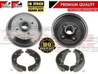FOR VAUXHALL CORSA B NOVA TIGRA REAR BRAKE DRUM DRUMS & BRAKE SHOE SHOES NON ABS