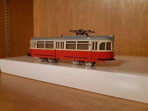 Marklin Hamo  Strassenbahn Strassen bahn tramway rot 1207 Top Märklin 800 ho