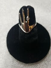 Sterling Silver Hand With Rhinestone on finger Ring