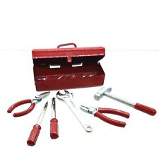 Doll House Accessories 1:12th Miniature - 1 Mini Tool Box with all the tools Red