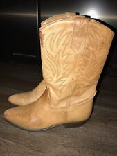 Seychelles Western Boots Women's Size 7 B Light Brown Leather Made In Mexico