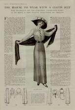 1913 FASHION AD / THE BLOUSE TO WEAR WITH A CLOTH SUIT.....