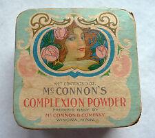 BELLE ET RARE BOITE A POUDRE ANCIENNE DE LA PARFUMERIE Mc CONNON'S / ART NOUVEAU