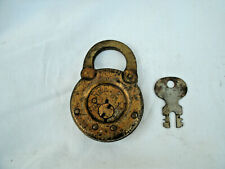 Vintage  Antique  **REESE** --Round Padlock with Key