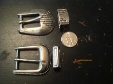 set of two (2) vintage ladies belt buckles and keepers