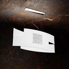 Lampadario in vetro bianco e foglia oro moderno a 2 luci tpl 1121/S75-FA