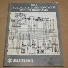 Suzuki 1991 Atv/Motorcycle Factory Wiring Electrical Diagrams Manual 99923-13911