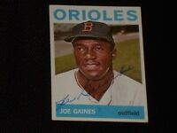 JOE GAINES 1964 TOPPS SIGNED AUTOGRAPHED CARD #364 BALTIMORE ORIOLES