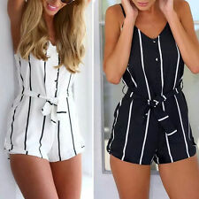 Polyester Plus Size Striped Summer/Beach Dresses for Women