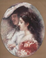 YOUNG LOVERS Silent Love by Tranquillo Cremona - SCARCE 1915 Color Print
