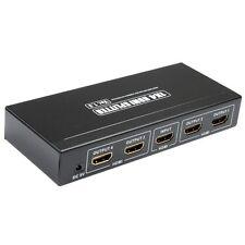 HDMI-VERTEILER WEICHE SPLITTER 3D-FÄHIG 1080 p FULL HD 1:4 HDMI BOOSTER AKTIV
