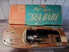 Vintage Fleet Line The Sea Babe Speed Boat Japan Battery Toy w/Box Part Repair