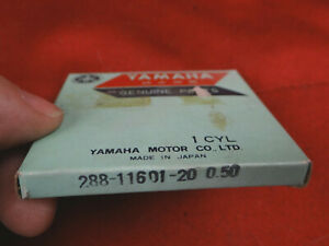 YAMAHA Piston Ring Set, 2nd OS, JT1 JT2 JT2MX RD60 MJ2 MJ2T YJ2, 288-11601-20-00