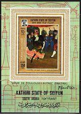 ADEN / Seiyun 1967 Art Paintings Toulouse- Lautrec S/S MNH** Mi: Bl.9 16,00 Eur.