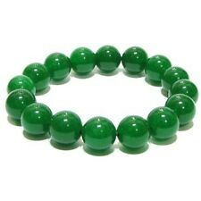 NATURAL GREEN JADE BRACELET / NATURAL AAA+ QUALITY GREEN JADE STONE BRACELET
