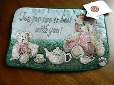 Boyds Bear Bears Tea for Two Teddybear Empty NEW Tapestry Pillow Cover Shell