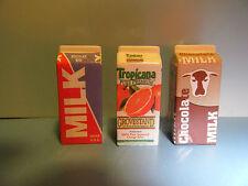 Tyco Kitchen Littles Orange Juice / Milk & Chocolate Milk Cartons