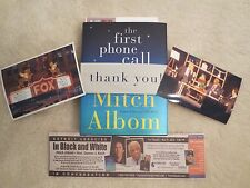 MITCH ALBOM. THE FIRST PHONE CALL FROM HEAVEN. SIGNED @ FOX. PRIOR TO RELEASE.