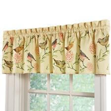 Springtime Birds And Blooms Rod Pocket Window Valance, Green