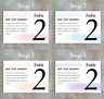 Watercolour Brush Stroke | Personalised Wedding Table Number Cards | A5, A6, A7