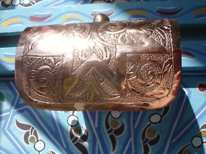 Moroccan COPPER hand ENGRAVED wall mounted toilet roll holder + STAR design