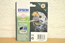 Cartouche d'Encre Originale EPSON T0796 Chouette Light Magenta 12/2017 Genuine