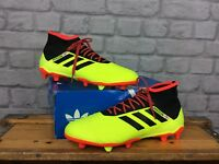 ADIDAS MENS UK 9 EU 43 1/3 18.2 FG YELLOW BLACK RED FOOTBALL BOOTS PERSONALISED