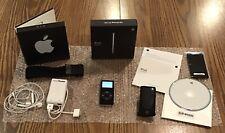 Apple iPod Nano 1st Gen 2Gb Black Model A1137 - Original Box & Accessories