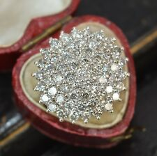 2.74 Ct Round Cut Diamond 14k Yellow Gold Over Engagement Wedding Cluster Ring