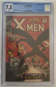 X-Men #24 1st Appearance Locust Roy Thomas Dick Ayers 1966 CGC 7.5 White Pages