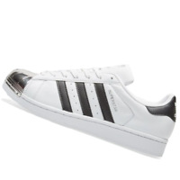 ADIDAS WOMENS Shoes Superstar Metal Toe - White, Black & Siver - OW-BB5114