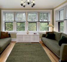Modern Contemporary Decorative Solid Shaggy Floor Rug L. Green 5x7